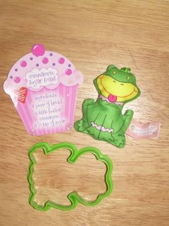 Little Miss Muffin My Surprise Pets Plush Frog w Cookie Cutter and Recipe Card
