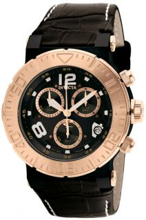 Invicta 1853 Ocean Reef Swiss Quartz Chronograph Leather Strap Mens Watch