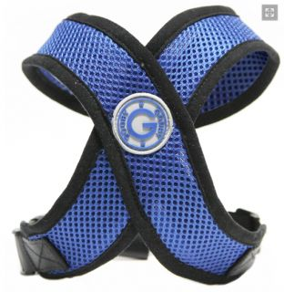 Gooby No Choke Comfort Dog Harness Step in Mesh Wider Neck Opening Blue