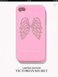 Victoria's Secret Pink Wing Bling Apple iPhone 4 s Cell Phone Case Cover