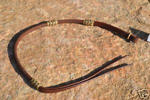 Rolled Harness Leather Barrel Racing Over Under Whip with Braided Rawhide 38""