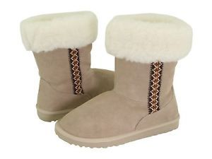 Womens Leather Fur Lined Boots