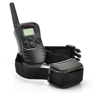 Waterproof Rechargeable LCD Shock Vibrate Remote Dog Training Collar 1 to 1