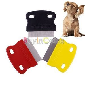 Pet Fine Toothed Flea Comb Cat Dog Puppy Small Steel Grooming Tool Brush