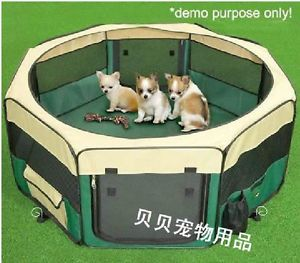 "37"" 8 Door Soft Pet Playpen Dog Guinea Pig Puppy Exercise Crate Pen Kennel Green"
