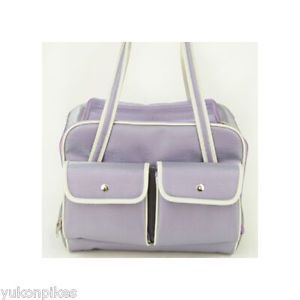 Small Dog Pet Airline Carrier Travel Tote Bag Lavender