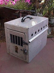 Vtg Original Bob McKee Aluminum Small Dog Crate Cage Kennel Airline Carrier