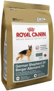 New Royal Canin Dry Dog Food German Shepherd 24 Formula 6 Pound Bag