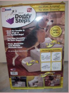 Telebrands Deluxe Doggy Steps Dog Cat Pet Stairs Doggie 3 Steps