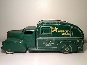 RARE Antique Vintage 1951 Marx City Sanitation Tin Truck