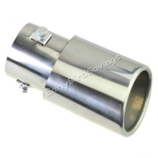 Vehicle Car Exhaust Muffler Stainless Steel Tail Straight Pipe Decorative Tip