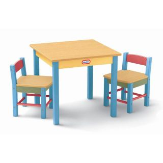 Little Tikes Deluxe Wooden Table Chairs Set Toddler