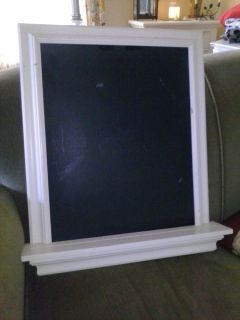 Pottery Barn Magnetic Chalkboard White Shelf Crown Molding Black Chalk Board