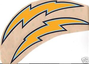 San Diego Chargers Full Size Football Helmet Decal