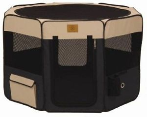 Precision Dog Pet Pen Play Yard Soft Side Heavy Duty Playpen Cage Large Portable