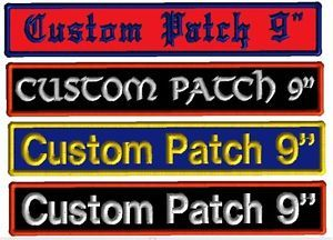 1 Custom Embroidered Bar Name Patch Motorcycle Biker Tag Badge Plate for Vest 9""