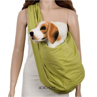 Blue Green Pet Sling Carrier Bag Cat Kitten Bunny Rabbit Dog Puppy Holding D170