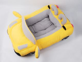 Popular Soft and Warm Pet Dog Cat Car Bed House Sofa Bed Tote Black Red Yellow