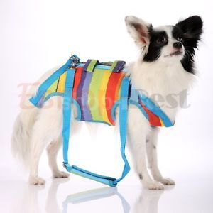 Canvas Sling Pet Dog Cats Harness Travel Carrier Bag Free Leash 4 Sizes s M L XL