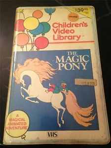 The Magic Pony Children's Video Library VHS 1977 Very RARE Jim Backus Hans