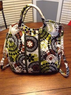 Vera Bradley Signature Two Way Tote Cocoa Moss