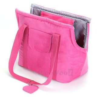 Pet Dog Cat Corduroy Portable Bag Travel Carrier Purse Tote for Small Dogs Only