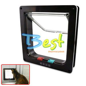 Pet Cat Dog Supply Lock Lockable Safe Flap Door Small