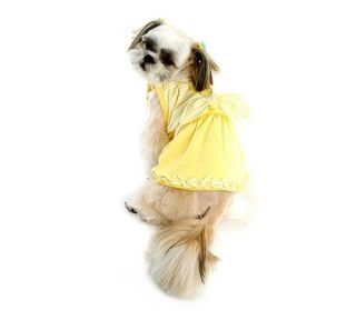 Pupumer Butterfly Dress Small Dog Clothes Yellow Purple