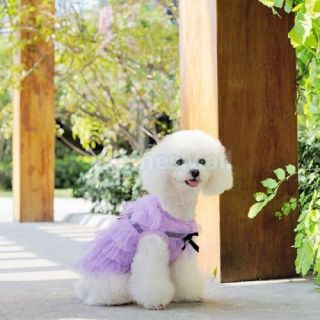 Pet Dog Party Purple Layered Tulle Skirt Dress Clothing Clothes Apparel s M L XL