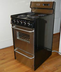"Summit Professional Stainless Steel Electric Range 20"" Inch"