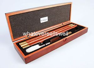 Deluxe Wooden Rod 12g Shotgun Cleaning Kit Presentation Box Gauge Shot Gun Bore