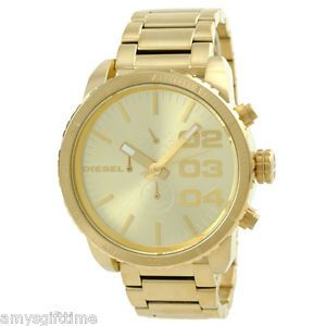 Brand New Diesel All Gold Stainless Steel Chronograph Men Watch DZ4268