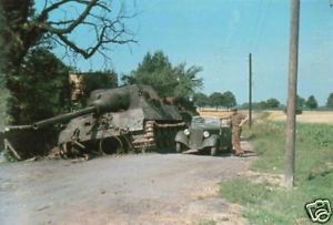 Color WWII Photo German Jagdtiger Tiger II PzKpfw WW2
