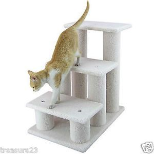 Armarkat Pet 3 Step Steps Cat Dog Stairs Ramp