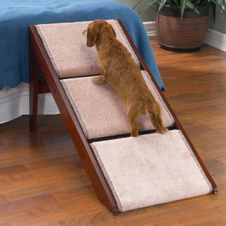Pet Studio Dog Ramp Stairs Folds Flat Carpeted 3 Steps