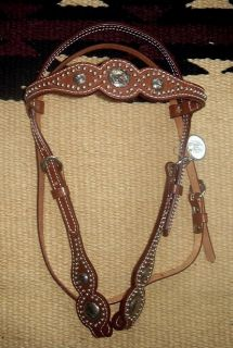Billy Cook Show Bridle Headstall Silver Horse Tack Nice