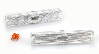 87 95 Jeep Wrangler Clear Front Side Marker Lights Pair