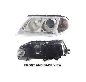 New Headlight Lamp Clear Lens VW Halogen Driver Left Side VW2502118 3B0941015AQ