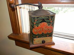 Vintage None Such Tin Advertising Coffee Grinder Cleveland Ohio 1900'S