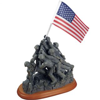 New Iwo Jima Flag Raising Figure Artful Display of WWII Soldiers Courage