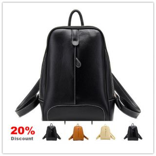 Small Korean Fashion Cute Girl Women PU Leather College School Book Bag Backpack
