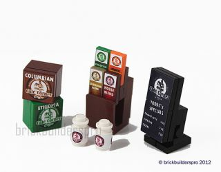 Cafe Corner Coffee Booster Pack Custom Food Lego City 10218 10185 10182