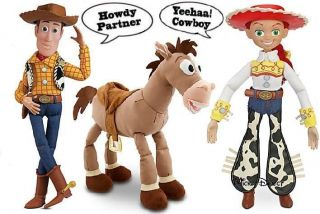 Disney Toy Story Bullseye Plush Talking Woody Jessie Action Figure Doll Set