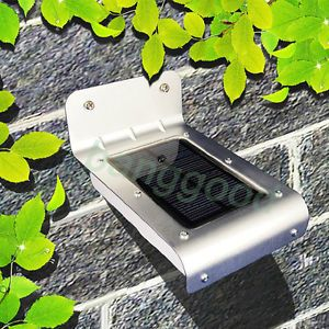 Home Garden Waterproof 16 LED Solar Voice Control Lamp Outdoor Yard Wall Light