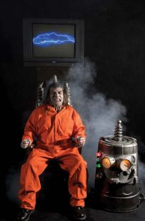 Electric Chair Kit Prison Scary Haunted House Yard Decor Electrocute Halloween