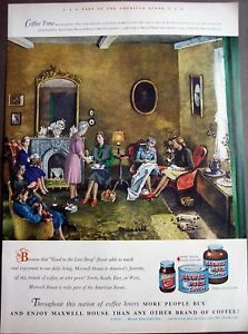 1948 Maxwell House Coffee Richard Munsell Art Ad