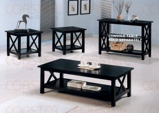Modern Cappuccino Coffee Table End Tables 3 Piece Set