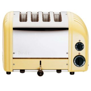 Dualit Chrome Retro Toaster Canary Yellow 619743404169