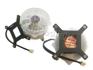 Aluminium Heatsink with Fan for 50W 100W High Power LED Light Lamp Cooling DC12V