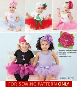 Sewing Pattern Makes No Sew Tutu Costume Baby Toddler Christmas Princess
